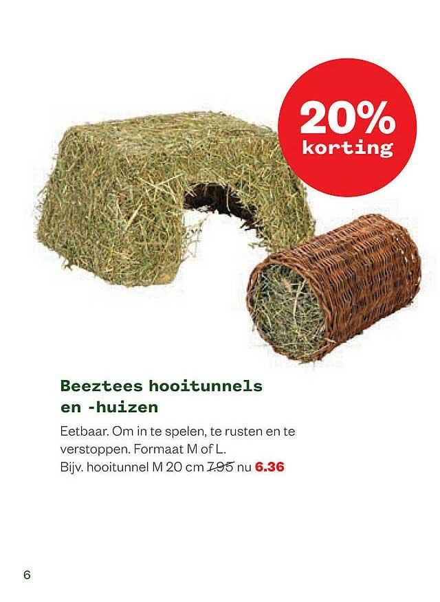 Welkoop Beeztees Hooitunnels En -huizen 20% Korting
