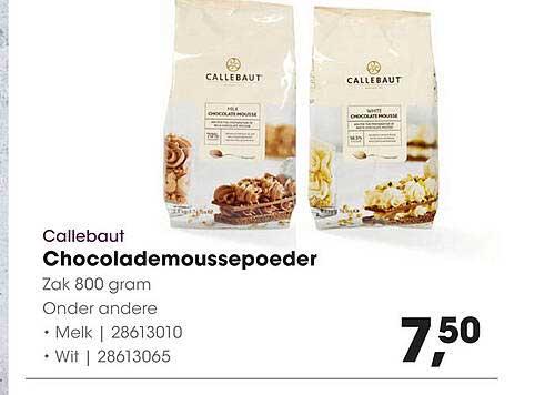 HANOS Callebaut Chocolademoussepoeder Melk Of Wit