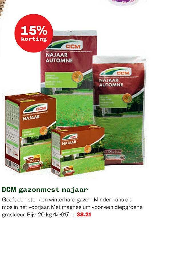 Welkoop DCM Gazonmest Najaar 15% Korting