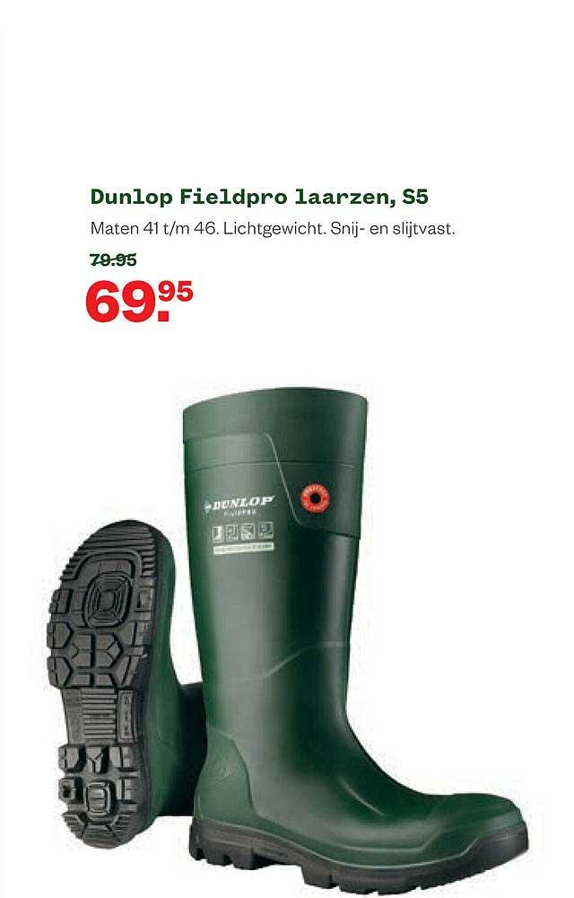 Welkoop Dunlop Fieldpro Laarzen, S5