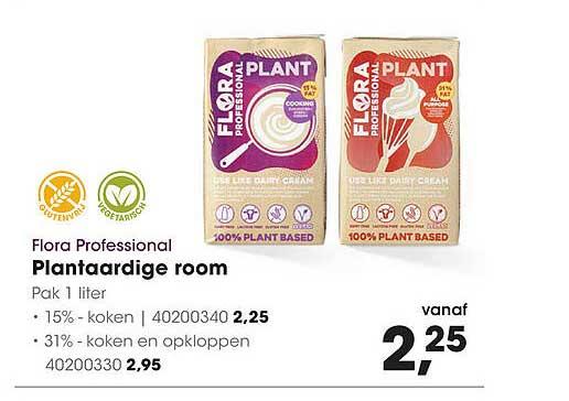 HANOS Flora Professional Plantaardige Room 15% - Koken Of 31% - Koken En Opkloppen
