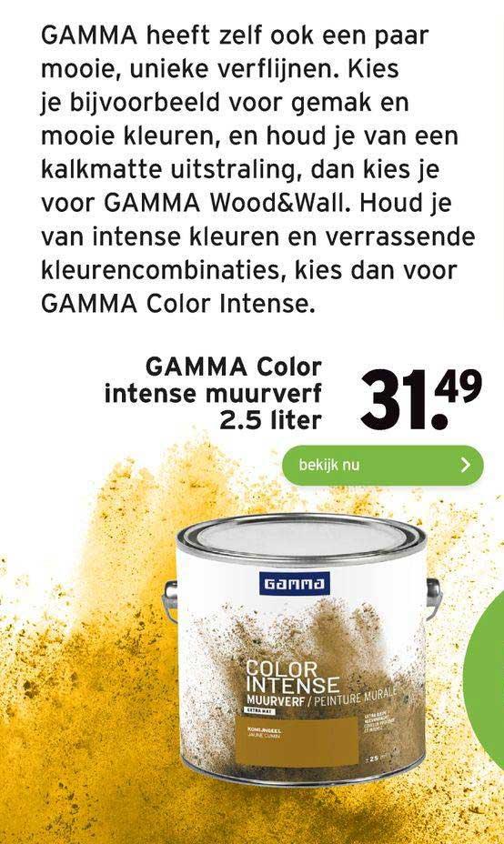 Gamma Gamma Color Intense Muurverf 2.5 Liter