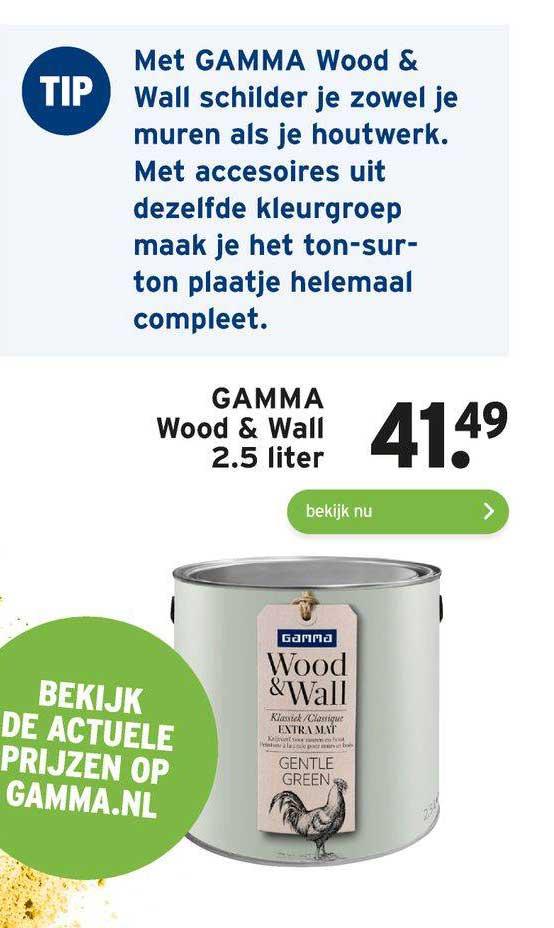 Gamma Gamma Wood & Wall 2.5 Liter
