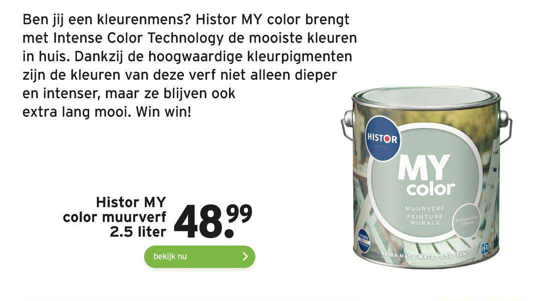 Gamma Histor My Color Muurverf 2.5 Liter