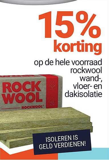 Inter Chalet Op De Hele Voorraad Rockwool Wand-, Vloer- En Dakisolatie 15% Korting