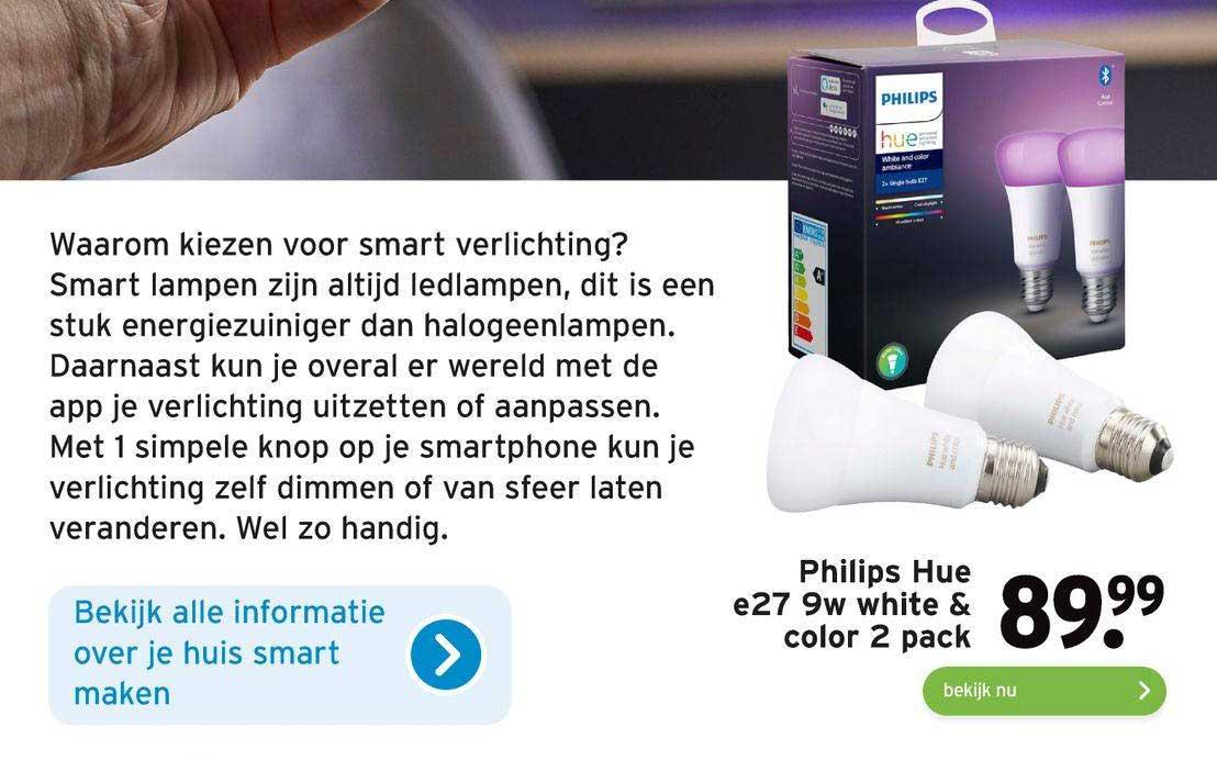 Gamma Philips Hue E27 9W White & Color 2 Pack
