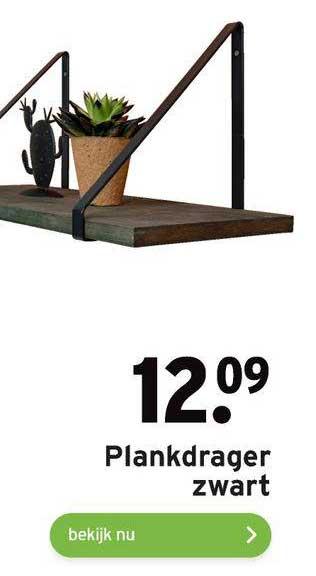 Gamma Plankdrager Zwart