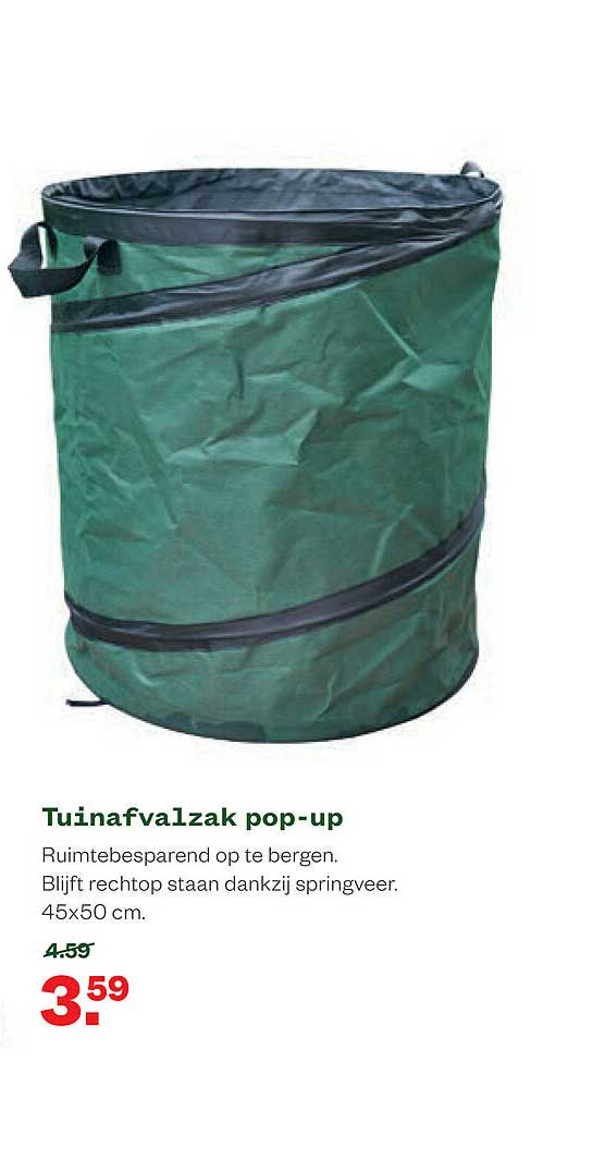 Welkoop Tuinafvalzak Pop-Up