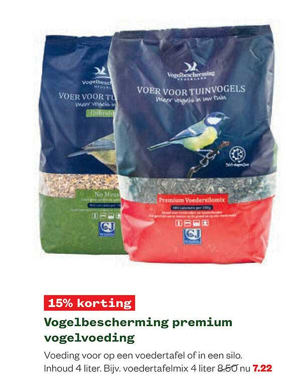 Welkoop Vogelbescherming Premium Vogelvoeding 15% Korting