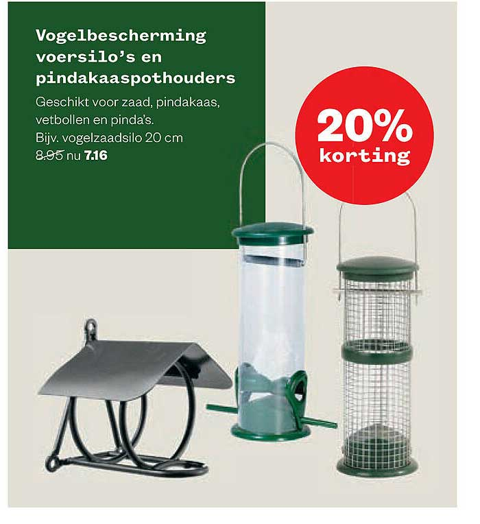Welkoop Vogelbescherming Voersilo's En Pindakaaspothouder 20% Korting