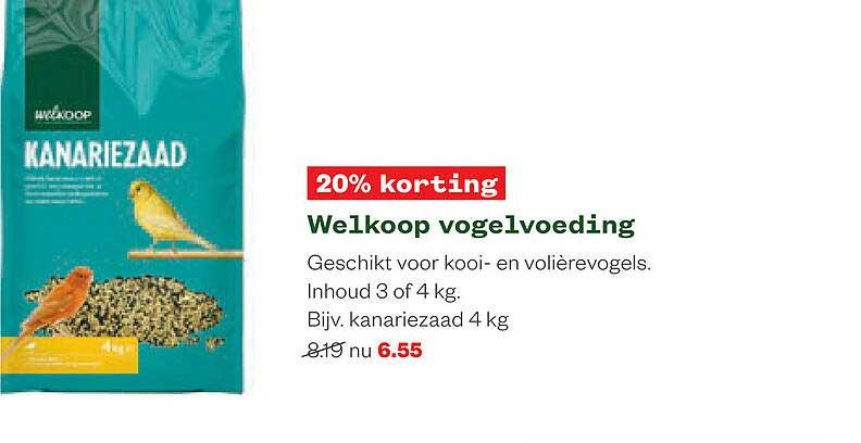 Welkoop Welkoop Vogelvoeding 20% Korting