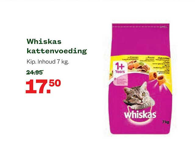 Welkoop Whiskas Kattenvoeding