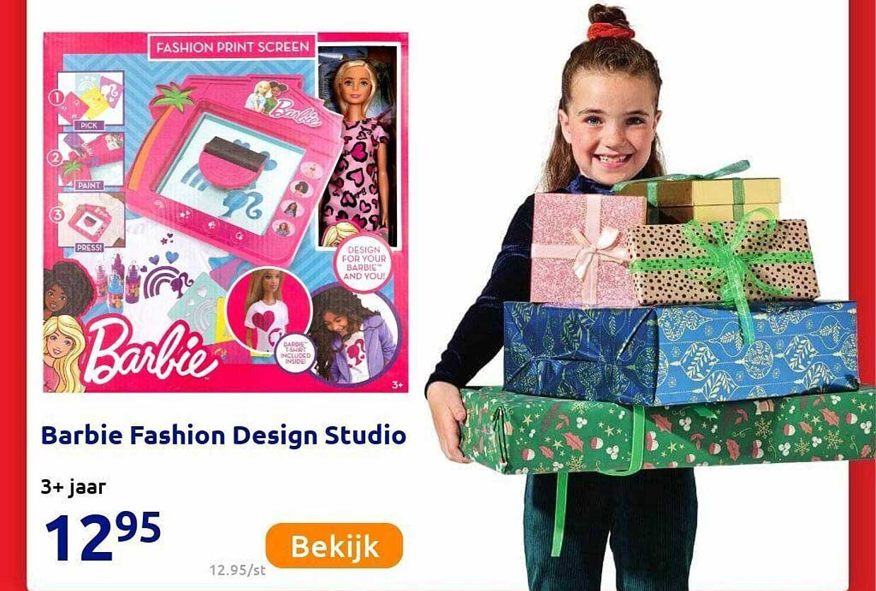 Action Barbie Fashion Design Studio