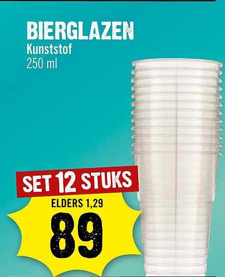 Dirck III Bierglazen Kunststof