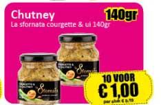 Datum Voordeelshop Chutney La Stornata Courgette & Ui 140gr
