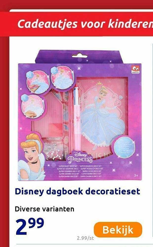 Action Disney Dagboek Decoratieset