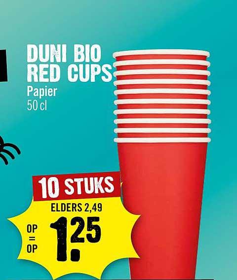 Dirck III Duni Bio Red Cups Papier
