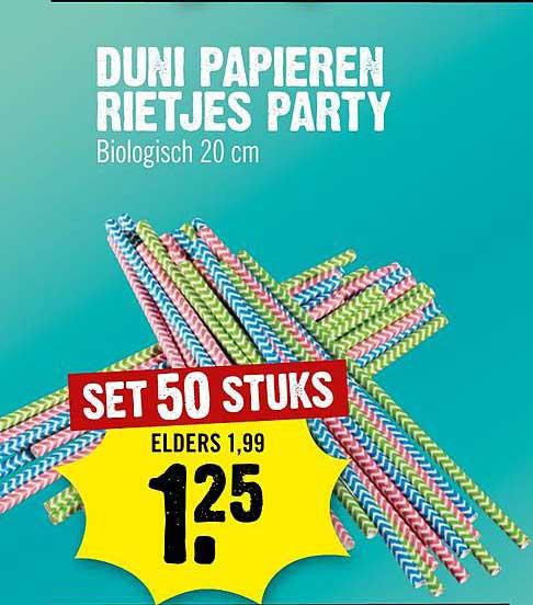 Dirck III Duni Papieren Rietjes Party