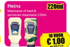 Datum Voordeelshop Heinz Mayonaise Of Basil & Parmesan Mayonaise 220ml