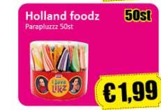 Datum Voordeelshop Holland Foodz Parapluzzz 50st