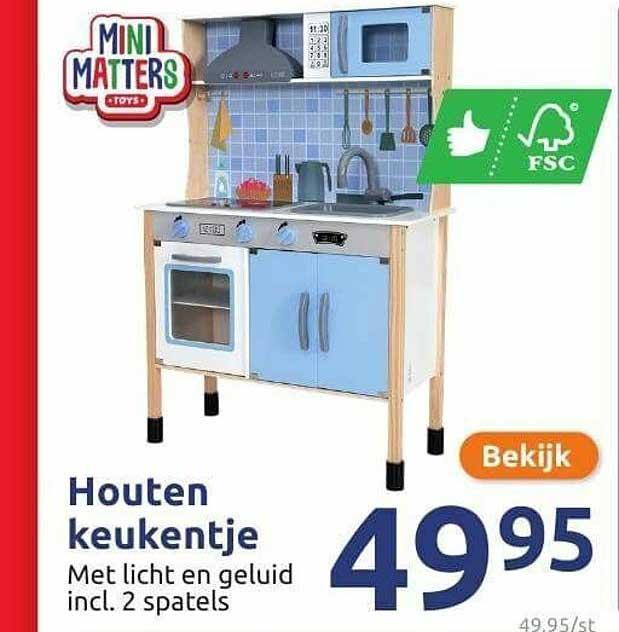 Action Houten Keukentje Met Licht En Geluid