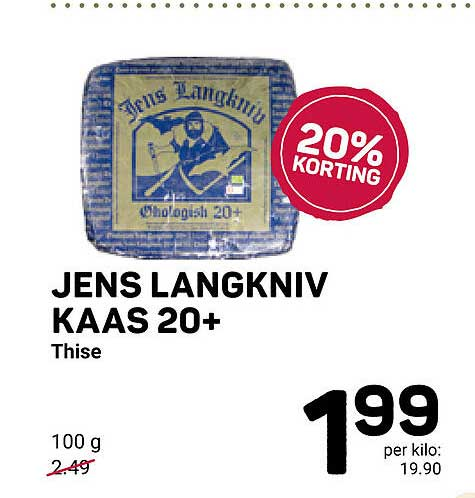 Ekoplaza Jens Langkniv Kaas 20+ 20% Korting
