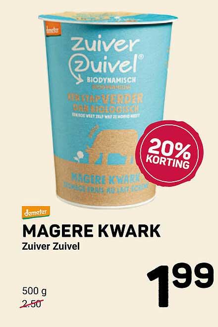 Ekoplaza Magere Kwark Zuiver Zuivel 20% Korting