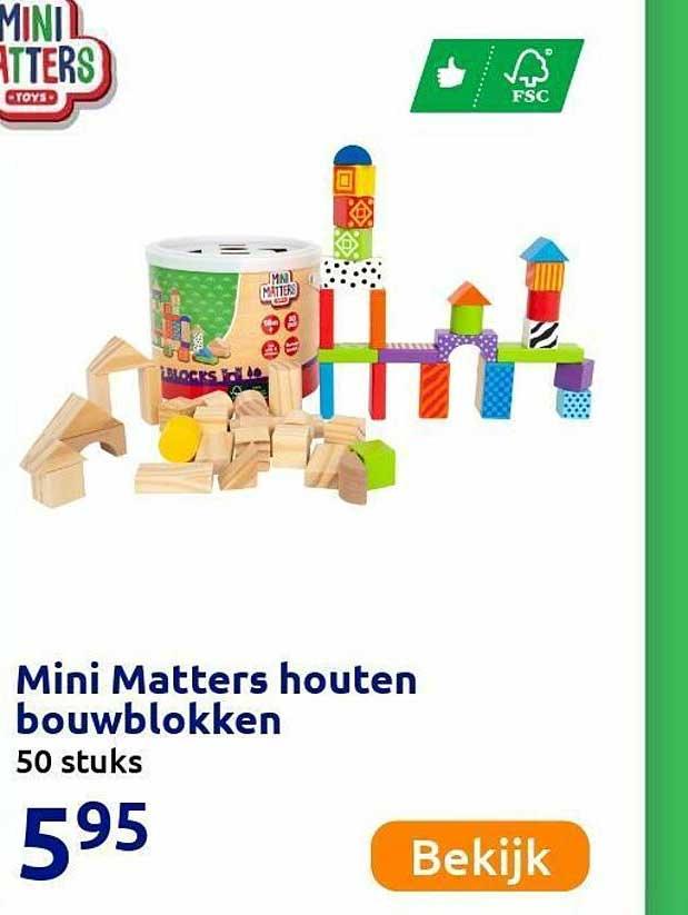 Action Mini Matters Houten Bouwblokken