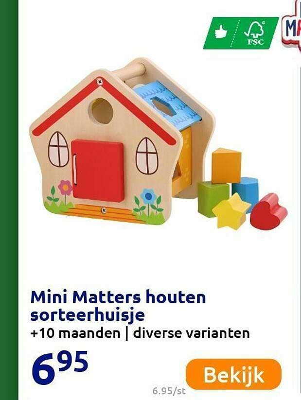 Action Mini Matters Houten Sorteerhuisje