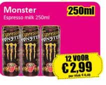 Datum Voordeelshop Monster Espresso Milk 250ml