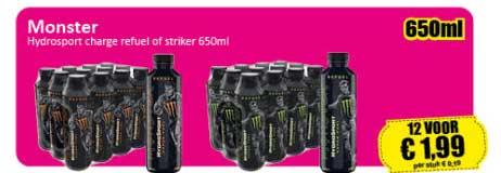 Datum Voordeelshop Monster Hydrosport Charge Refuel Of Striker 650ml