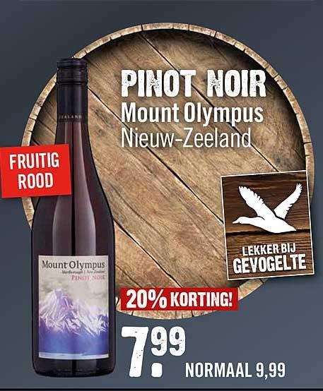 Dirck III Pinot Noir Mount Olympus 20% Korting