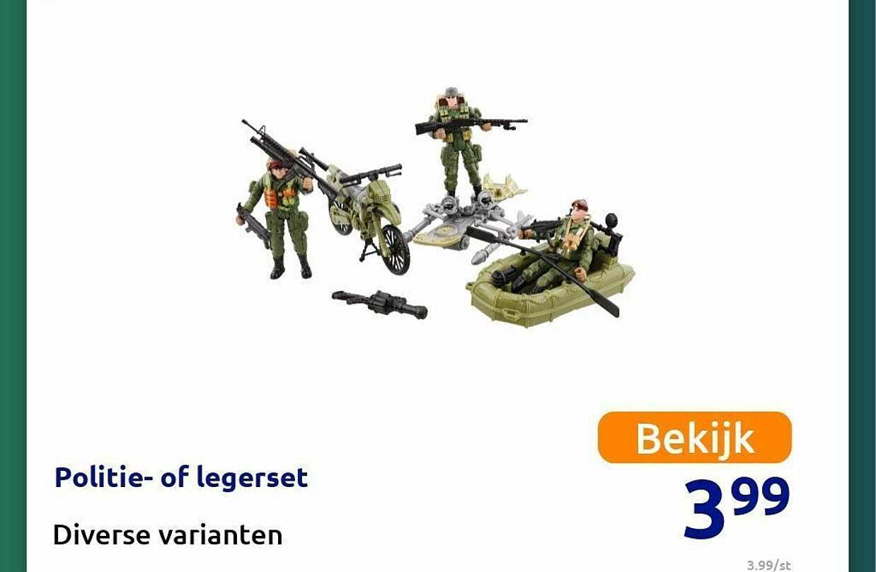Action Politie- Of Legerset