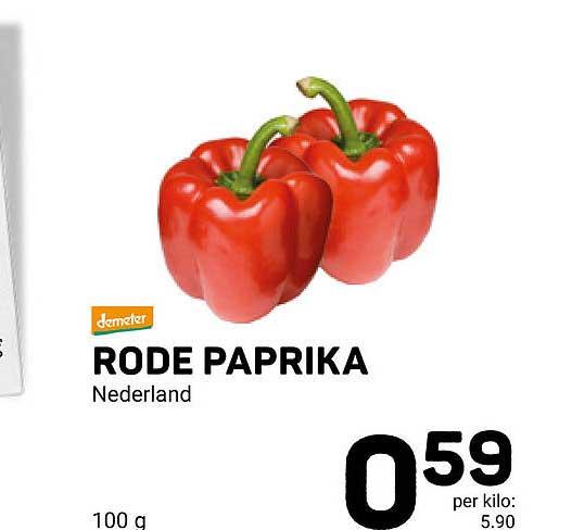 Ekoplaza Rode Paprika