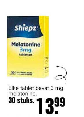 De Online Drogist Shiepz Melatonine 3mg Tabletten
