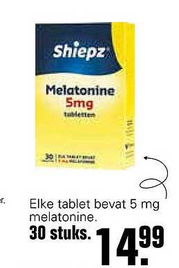De Online Drogist Shiepz Melatonine 5mg Tabletten