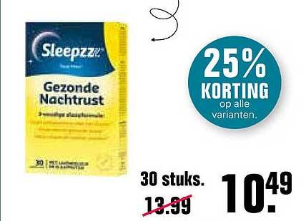 De Online Drogist Sleepzz Gezonde Nachtrust 25% Korting