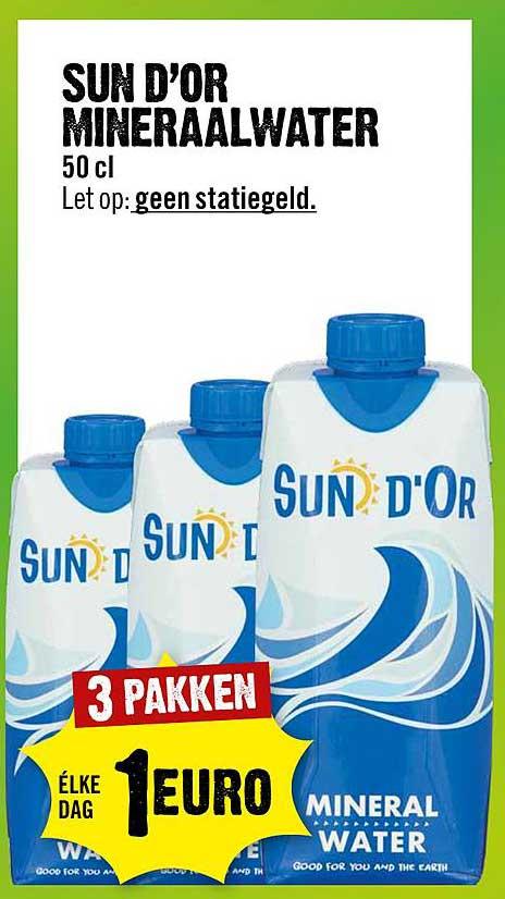 Dirck III Sun D'Or Mineraalwater