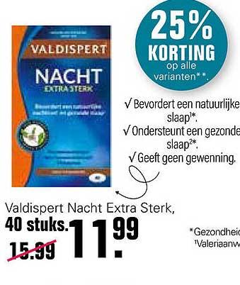 De Online Drogist Valdispert Nacht Extra Sterk 25% Korting