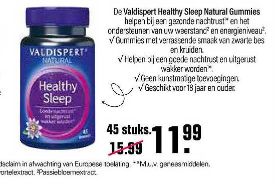De Online Drogist Valdispert Natural Healthy Sleep