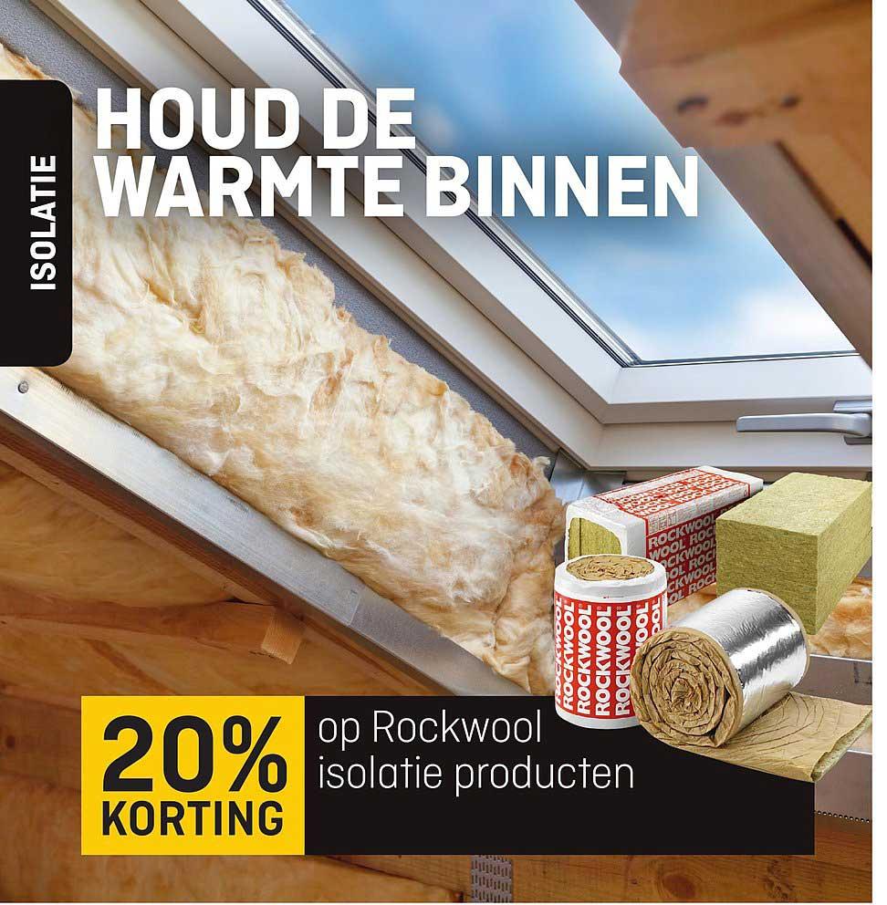 Multimate 20% Korting Op Rockwool Isolatie Producten