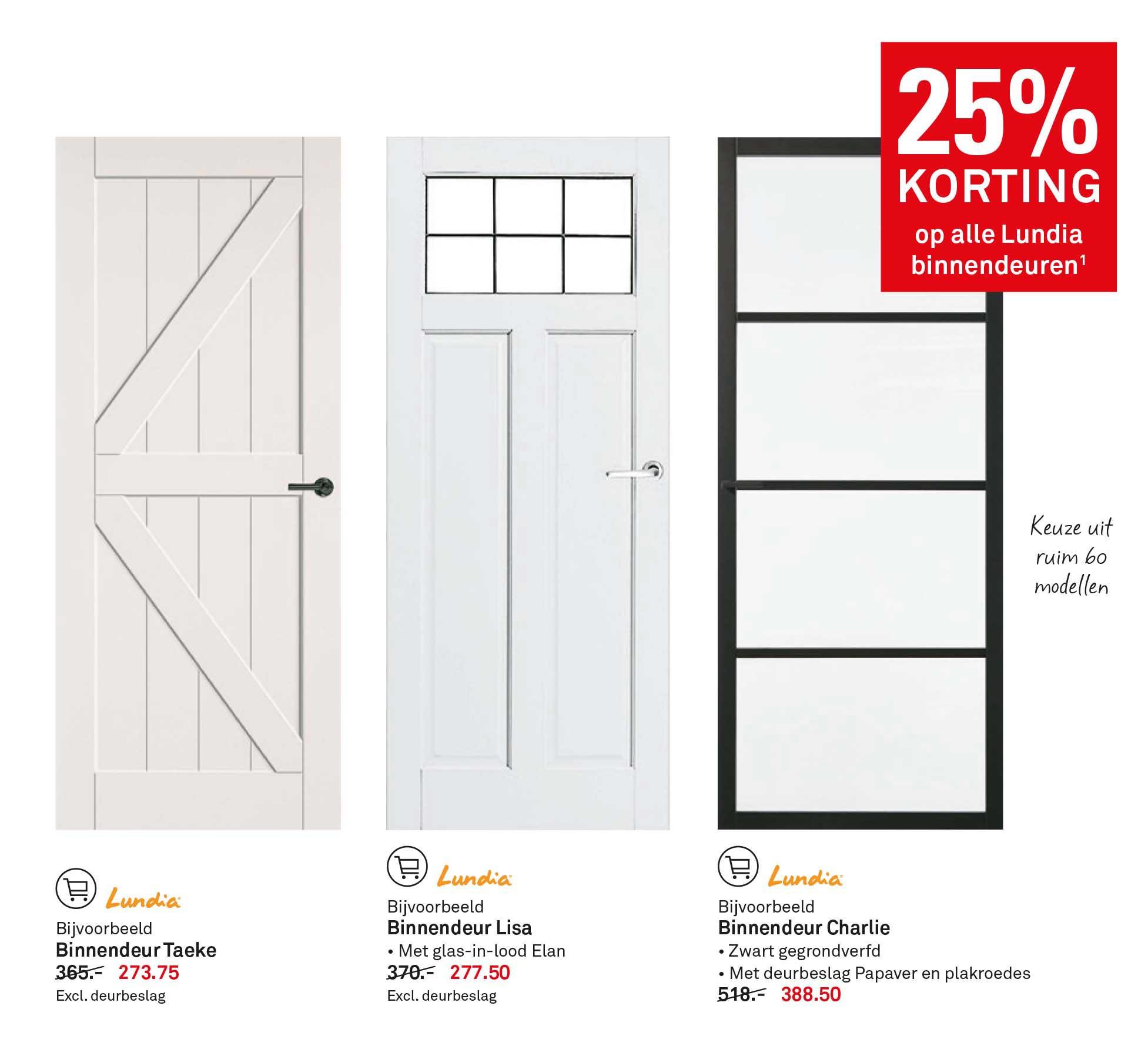 Karwei 25% Korting Op Alle Lundia Binnendeuren