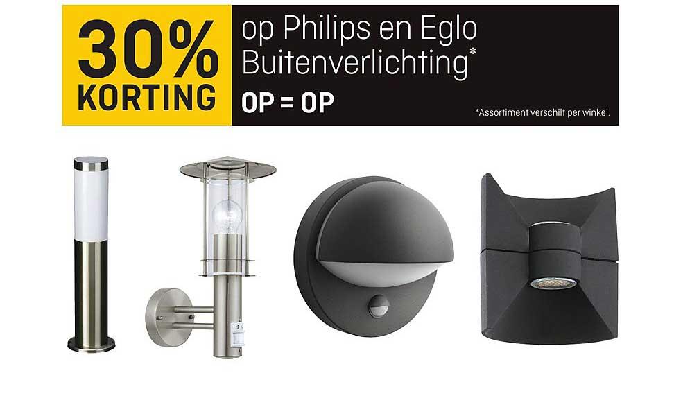 Multimate 30% Korting Op Philips En Eglo Buitenverlichting