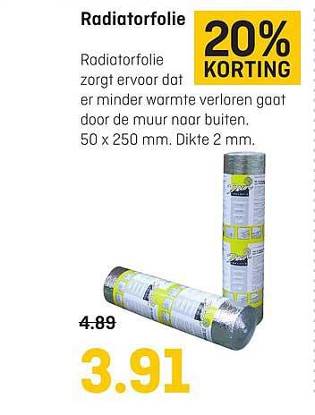 Multimate Radiatorfolie: 20% Korting