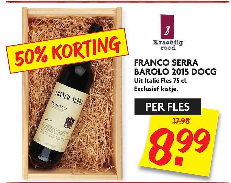 DekaMarkt Franco Serra Barolo 2015 DOCG 50% Korting