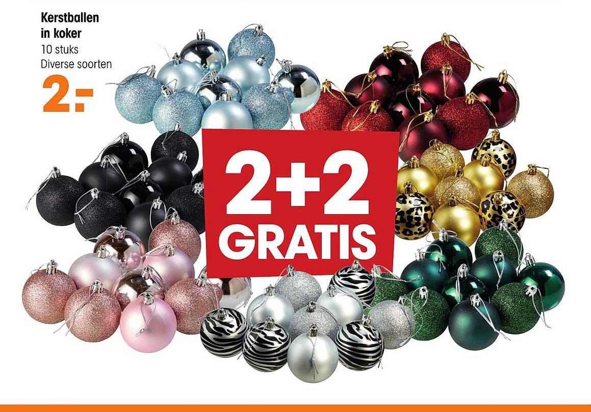 Kwantum Kerstballen In Koker 2+2 Gratis