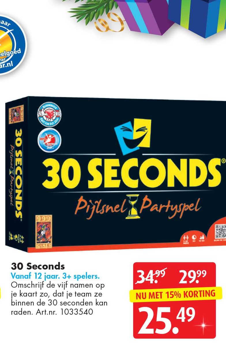 Bart Smit 30 Seconds: Nu Met 15% Korting