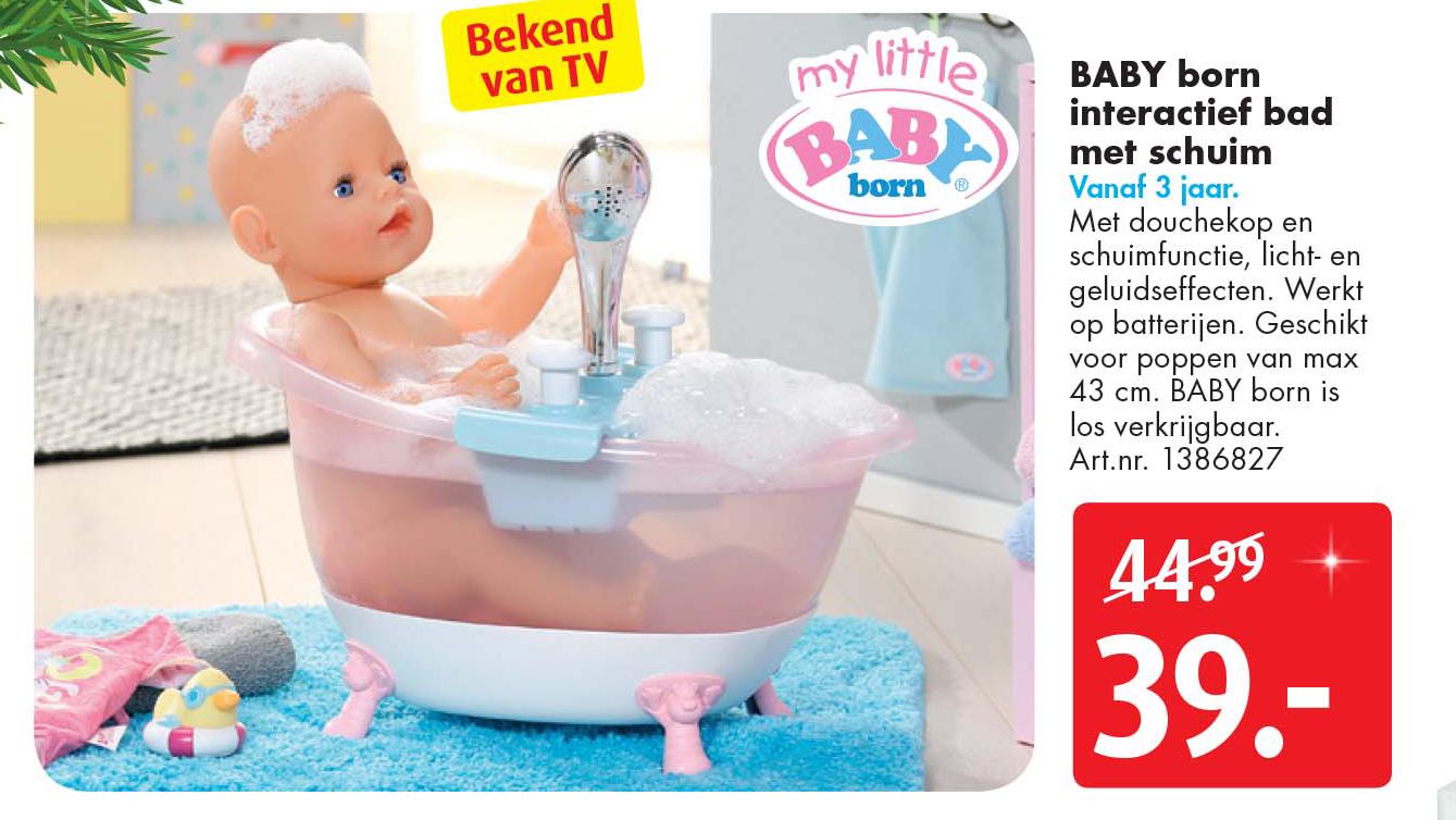 Bart Smit BABY Born Interactief Bad Met Schuim