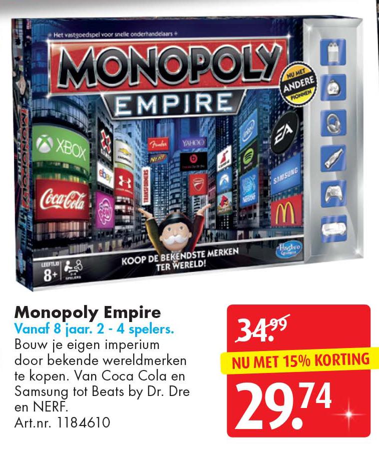 Bart Smit Monopoly Empire: Nu Met 15% Korting
