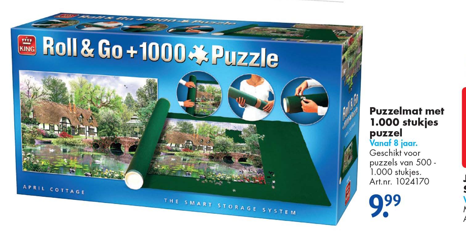 Bart Smit Puzzelmat Met 1000 Stukjes Puzzel